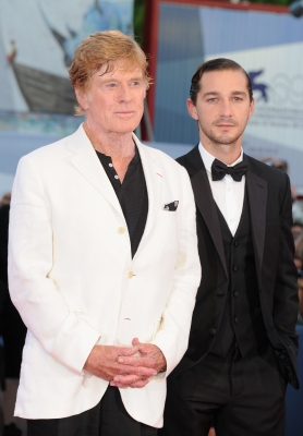 Robert Redford and Shia LaBeouf attend 'The Company You Keep' Premiere at the 69th Venice Film Festival at the Palazzo del Cinema in Venice, Italy on September 6, 2012