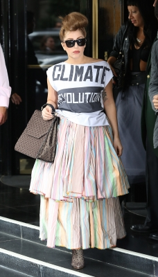 Lady Gaga is seen leaving her hotel in London on September 17, 2012