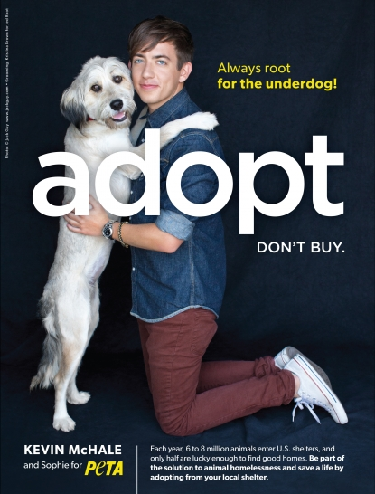 Kevin McHale and Sophie for PETA