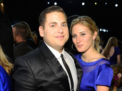 Jonah Hill and Ali Hoffman attend the 18th Annual Screen Actors Guild Awards at The Shrine Auditorium in Los Angeles on January 29, 2012
