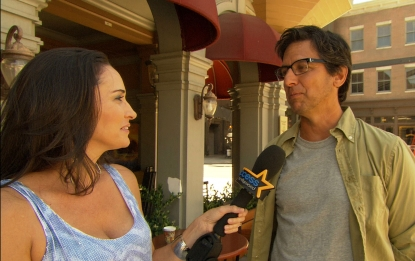 Laura Saltman and Ray Romano on the set of NBC's 'Parenthood'