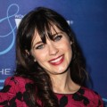 Zooey Deschanel seen at Variety and Women in Film Pre-Emmy Event presented by Saint Vintage at Montage in Beverly Hills, Calif., on September 21, 2012