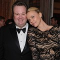 Eric Stonestreet and Charlize Theron attend the Bloomberg & Vanity Fair cocktail reception following the 2012 White House Correspondents' Association Dinner at the residence of the French Ambassador in Washington, DC on April 28, 2012