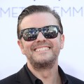 Ricky Gervais arrives at the 64th Annual Primetime Emmy Awards at Nokia Theatre L.A. Live in Los Angeles on September 23, 2012