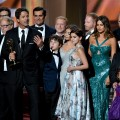 The cast and crew of &#8220;Modern Family&#8221; takes the stage at the 2012 Emmy Awards