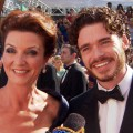Emmys 2012: Game Of Thrones&#8217; Richard Madden &amp; Michelle Fairley Star Gazing On The Red Carpet