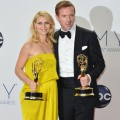 Claire Danes and Damian Lewis pose in the 64th Annual Emmy Awards press room at Nokia Theatre L.A. Live in Los Angeles on September 23, 2012