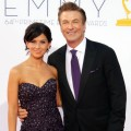 Alec Baldwin and Hilaria Thomas arrive at the the 64th Primetime Emmy Awards at Nokia Theatre L.A. Live in Los Angeles on September 23, 2012 