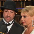 Joey Fatone and Kym Johnson chat with Access Hollywood after their elimination on 'Dancing With The Stars: All Stars' on October 2, 2012