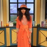 Roe Fashion Show retro looks on Access Hollywood Live on September 27, 2012