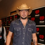Singer Jason Aldeani appears backstage during the 2012 iHeartRadio Music Festival at the MGM Grand Garden Arena in Las Vegas on September 21, 2012