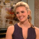 Maggie Grace stops by Access Hollywood Live on October 2, 2012