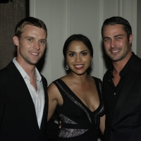 Jesse Spencer, Monica Raymund and Taylor Kinney attend the world premiere of the new NBC series &#8216;Chicago Fire&#8217; at the Chicago History Museum in Chicago, Ill. on Oct. 2, 2012