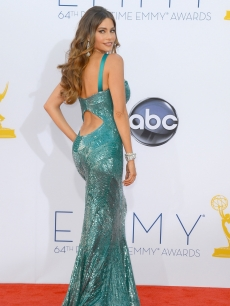 Sofia Vergara arrives at the 64th Annual Primetime Emmy Awards at Nokia Theatre L.A. Live in Los Angeles on September 23, 2012