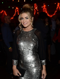 Carmen Electra sparkles at the '90210 100th Episode Celebration at Pink Taco Sunset Strip on September 29, 2012 in Los Angeles