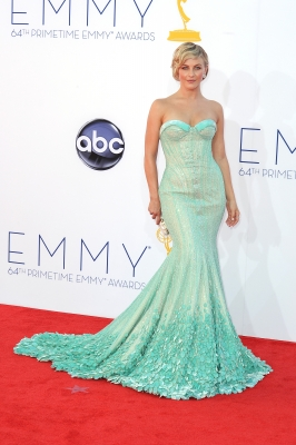 Julianne Hough arrives at the 64th Annual Primetime Emmy Awards at Nokia Theatre L.A. Live in Los Angeles on September 23, 2012