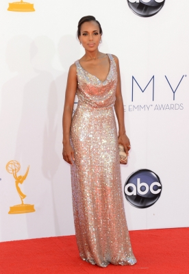 Kerry Washington arrives at the 64th Annual Primetime Emmy Awards at Nokia Theatre L.A. Live in Los Angeles on September 23, 2012