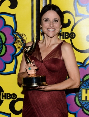 Julia Louis-Dreyfus arrives at HBO's Official Emmy After Party at The Plaza at the Pacific Design Center on September 23, 2012 in West Hollywood