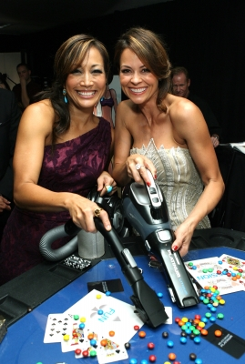 Carrie Ann Inaba and Brooke Burke-Charvet clean up with the new Black & Decker Platinum Hand Vaccum