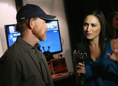 Ron Howard chats with AccessHollywood.com&#8217;s Laura Saltman inside the Presenters Gift Lounge Backstage At The Nokia Theatre. Bertolli Sauces &amp; Frozen Meals made a charitable donation on behalf of each star who stopped by.