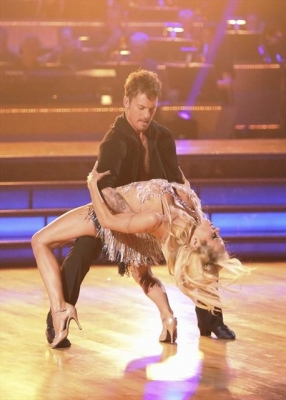 Tristan MacManus dips Pamela Anderson on &#8216;Dancing with the Stars: All-Stars,&#8217; Week 1, Sept. 24, 2012