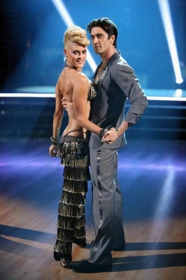 Peta Murgatroyd and Gilles Marini pose during Week 2 of 'Dancing with the Stars: All-Stars,' Oct. 1, 2012
