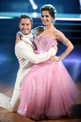 Val Chmerkovskiy and Kelly Monaco perform during Week 2 of 'Dancing with the Stars: All-Stars,' Oct. 1, 2012