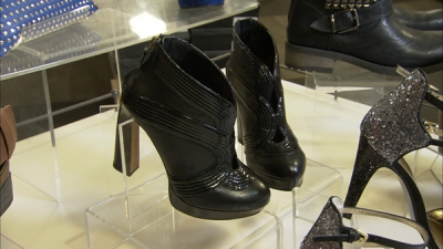 The black bootie is a must have this fall season. These booties' embellishments and heel detail make for sexy, sophisticated look and give a great boost of height.