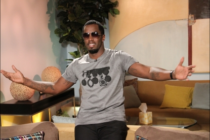 Sean 'Diddy' Combs poses backstage on Access Hollywood Live on September 27, 2012