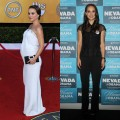 Natalie Portman walks the carpet at the Nevada Women Vote 2012 Summit in Las Vegas, a year after she gave birth to baby boy Aleph in June 2011. 