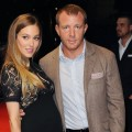 Jacqui Ainsley and Guy Ritchie attend the European premiere special screening of 'The Dark Knight Rises' in London on July 18, 2012