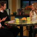Lauren Conrad visits Billy Bush and Kit Hoover on Access Hollywood Live on October 11, 2012