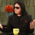 Gene Simmons on the set of Access Hollywood Live on October 12, 2012