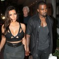 Kim Kardashian and Kanye West are seen leaving Prime 112 Steakhouse in Miami on October 14, 2012