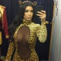 Kim Kardashian sports a Halloween costume on October 13, 2012