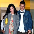 Katy Perry and John Mayer are seen on the streets of Manhattan in New York City on October 16, 2012