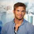 Kellan Lutz attends &#8216;Bait 3D&#8217; press conference in Shanghai, China on October 11, 2012