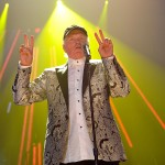 Mike Love of The Beach Boys performs during their final concert on their 50th Anniversary tour at Wembley Arena, London, on September 28, 2012