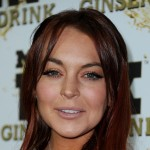 Lindsay Lohan arrives at Mr. Pink Ginseng Drink Launch Party on October 11, 2012 in Beverly Hills, Calif.