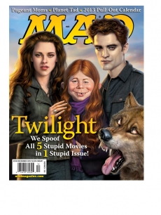 MAD Magazine's December 2012 issue spoofing 'Twilight's' Robert Pattinson and Kristen Stewart