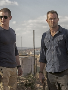 Philip Winchester as Sgt. Michael Stonebridge and Sullivan Stapleton as Damien Scott in Cinemax's 'Strike Back'