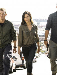 Philip Winchester, Rhona Mitra and Sullivan Stapleton in Cinemax's 'Strike Back'