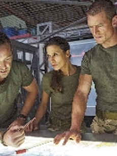 Sullivan Stapleton, Rhona Mitra and Philip Winchester in Cinemax's 'Strike Back'