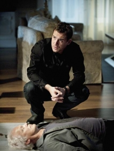 Barry Sloane as Aiden Mathis and the 'White Haired Guy' in ABC's 'Revenge'