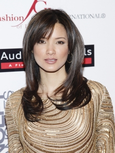 Kelly Hu attends Meet The Designer And The Muse presented by Fashion Group International of Los Angeles at Ace Gallery on March 8, 2012