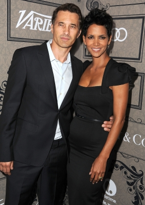Olivier Martinez and Halle Berry arrives at the Variety's Power Of Women Presented By Lifetime at the Beverly Wilshire Four Seasons Hotel, Beverly Hills, on October 5, 2012