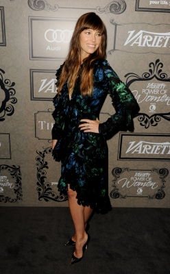 Jessica Biel arrives at Variety's Power of Women presented by Lifetime at the Beverly Wilshire Hotel on October 5, 2012 in Beverly Hills, Calif.