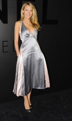 Blake Lively attends the celebration of CHANEL FINE JEWELRY'S 80th anniversary of the 'Bijoux De Diamants' collection created by Gabrielle Chanel in New York City on October 9, 2012
