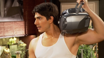 Brandon Routh Flexes His Muscles On Partners