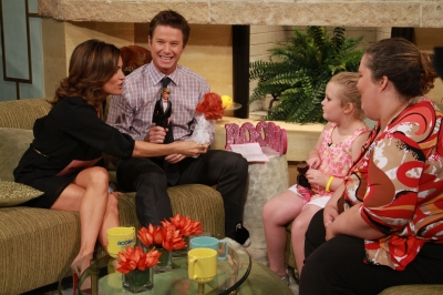 Billy Bush cracks up while he and Kit Hoover have some fun with Honey Boo Boo and her mom June on Access Hollywood Live on October 16, 2012